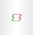 letter z green red logo element design vector image vector image