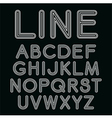 Linear font in mono line style vector image