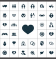 love icons universal set for web and ui vector image vector image