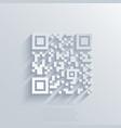 modern qr code background vector image