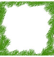 natural square frame vector image vector image