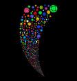 network random stream vector image vector image