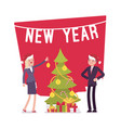 new year tree money decoration vector image