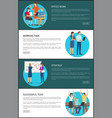 office work and strategy set vector image vector image