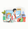 online doctor consultation virtual doctor visit vector image