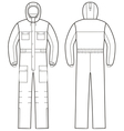 Overalls with hood vector image