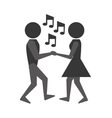 people dancing icon design vector image vector image
