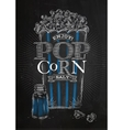 Poster popcorn salt black vector image vector image