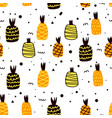 seamless pattern with pineapple background vector image vector image