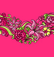 seamless pattern with roses and lilies vector image vector image
