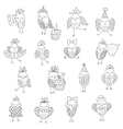 Set of cute birds in different actions vector image vector image