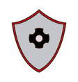 shield protection healthcare safety symbol design vector image
