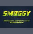 smoggy heavy display font design alphabet vector image