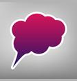 speach bubble sign purple vector image vector image