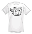 T-shirt bear smiling snout logo vector image