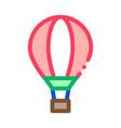 trip air balloon icon outline vector image