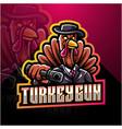 turkey gunner esport mascot logo vector image vector image
