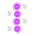 vertical timeline steps infographics - can vector image vector image