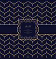 vintage label and simple pattern with zigzag lines vector image