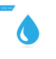 water drop icon blue water icon vector image