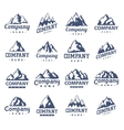 Mountain symbol set vector image