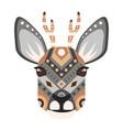roe head logo deer decorative emblem vector image