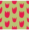 Seamless floral pattern with hand drawn red tulips vector image