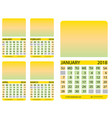 calendar grid january february march april vector image