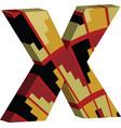 3d font letter x vector image vector image
