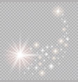 a bright comet with falling star glow light vector image vector image