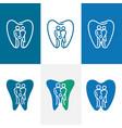 abstract denta familyl logo vector image vector image