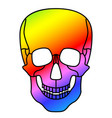 abstract skull design vector image vector image