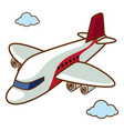 airplane flying in sky vector image vector image