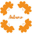 autumn yellow leaves of chestnut vector image vector image