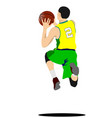 basketball player poster vector image vector image