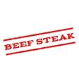 Beef Steak Watermark Stamp vector image