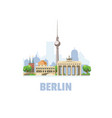 berlin city skyline cityscape with famous vector image