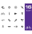 black bicycle part icons set vector image vector image