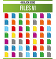 black icon set file iv vector image