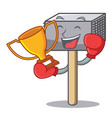 boxing winner meat hammer utensil isolated on vector image vector image