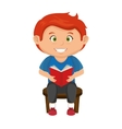 boy kid cartoon vector image