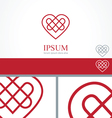 Celtic Heart element concept design template vector image vector image
