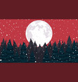 christmas background falling snow vector image vector image