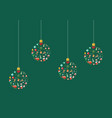 christmas balls made decoration elements vector image
