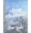 Christmas greeting card - snowy branches EPS 10 vector image vector image