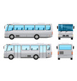 city public bus with flat and solid color style vector image vector image