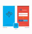 company balloons splash screen and login page vector image vector image