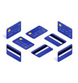 credit card isometric icons big set vector image vector image
