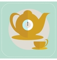 Cup of tea flat icon vector image vector image