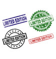 damaged textured limited edition stamp seals vector image